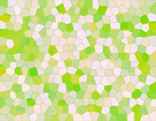緑と白のステンドグラス風の背景イラスト