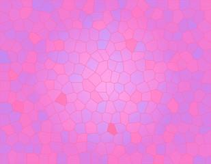 ピンク色のステンドグラス風の背景イラスト