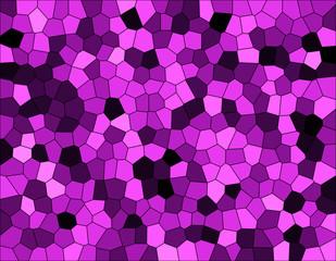 紫色のステンドグラス風の背景イラスト