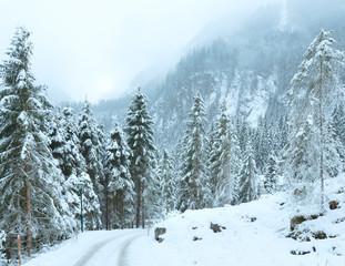 Winter mountain landscape  (Austria, Tirol).