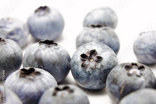 Blueberries (white background)