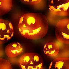 Seamless Jack-o'-lanterns pumpkin pattern
