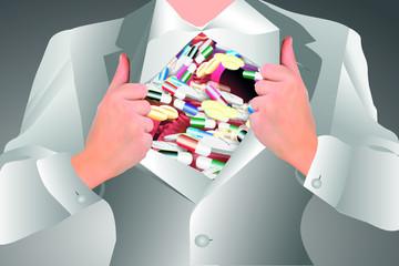 Medikamente-Überschuss-Überdruss