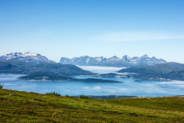 Tromso beyond the Arctic circle, Norway.