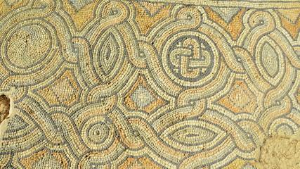 Roman bath mosais Athens Greece