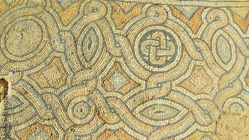 Roman bath mosais Athens Greece