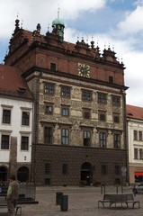 Renaissance city hall in Pilsen, Czech Republic
