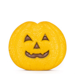 Halloween cookie on a white background