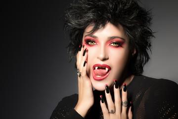 Fashionable Vampire Girl. Fantasy Makeup