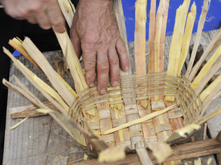 basketwork and artisan hands
