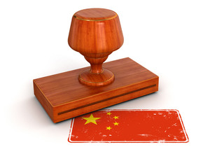 Rubber Stamp Made in China (clipping path included)