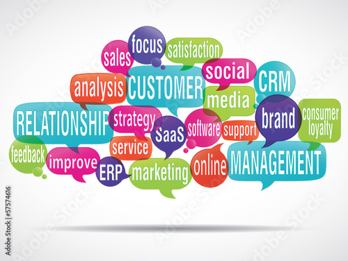 word cloud bubbles : crm