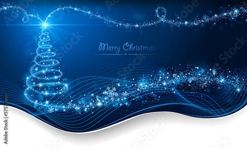 Magic Christmas tree. Holiday card - 57574827