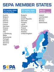 S€PA - sepa member states map