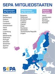 S€PA - sepa mitgliedstaaten karte