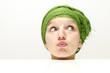 Lustige Frau mit Turban