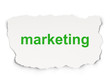 Advertising concept: Marketing on Paper background