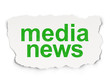 News concept: Media News on Paper background