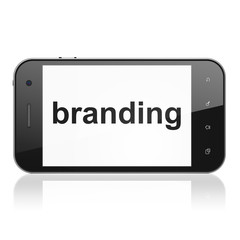 Marketing concept: Branding on smartphone