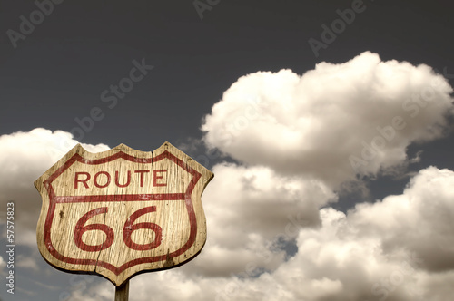 Poster Iconic Route 66 sign