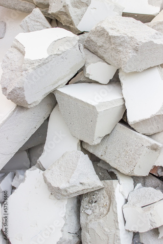 broken blocks background