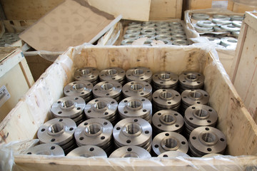 Boxs of steel flanges