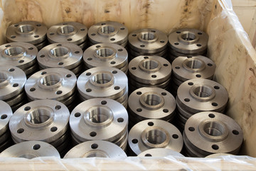 Box of steel flanges