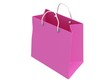 Classic pink shopping bag (3d render)
