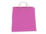 Classic pink shopping bag (3d render)