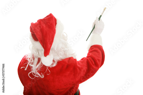 Painter Santa - Design Element