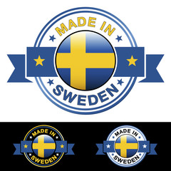 Made In Sweden Badge