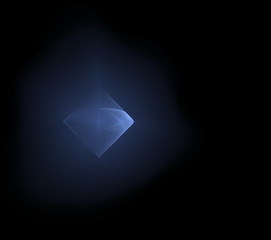 Abstract background blue square