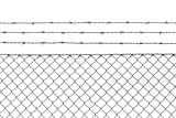 Metallic fence pattern background