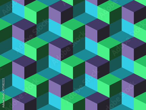 Seamless background with cubes