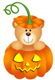 Halloween Teddy Bear in Pumpkin