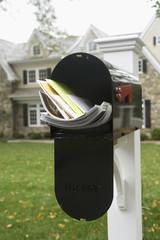 Full mailbox, Chatham, New Jersey, USA