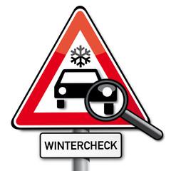 Wintercheck, Schild freigestellt