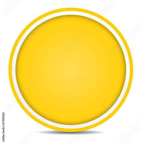 Schild gelb rund
