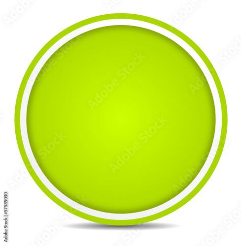 Schild rund grün
