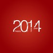 Happy New Year 2014 red background vector