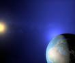 Mondo terra sole spazio globo Europa Africa