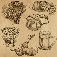 Food and Drinks around the World - drawings into vector 4