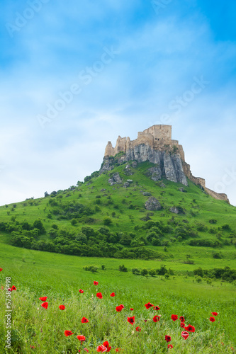 Spis Castle on the cliff