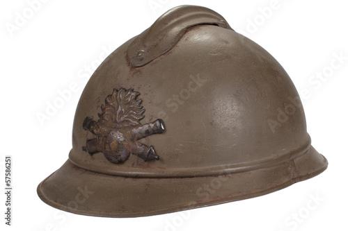 russian helmet WW1 period Poster