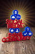 Social media communication,Internet concept, media icons set