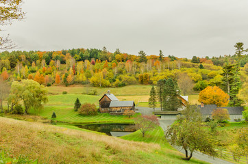 Scenic Countryside in Autum