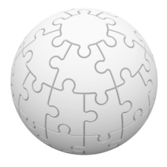 Sphere consisting of puzzles