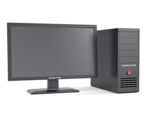 System unit with a monitor