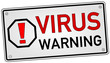 Virus Warning Schild  #131024-svg02