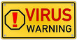 Virus Warning Schild  #131024-svg01